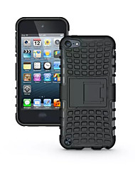 cheap -TPU+ PC Hybrid Rugged Rubber Armor stand Hard Cover Cases For iPod Touch 5