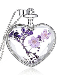 cheap -Crystal Pendant Heart Ladies Fashion everyday fancy Sterling Silver Purple Necklace Jewelry For Wedding Party Casual Daily