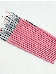 cheap -15PCS Nail Art Painting Pen Brush Kits Set
