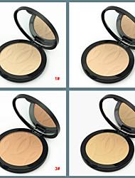 Недорогие -Однотонные Набор макияжа Компактная пудра 1 pcs Сухие Покрытие / Консилер / Натуральный Лицо Составить косметический