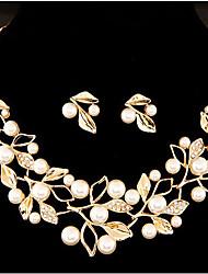 cheap -MISS U Women's Luxury Bohemia Man Made Pearl Necklace & Earrings Jewelry Sets
