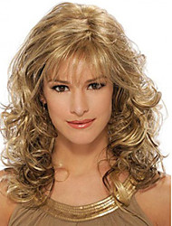 cheap -Synthetic Wig Curly Curly Wig Blonde Medium Length Synthetic Hair Women's Blonde