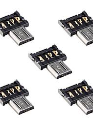 Недорогие -cy® разъем Micro USB OTG (5шт)