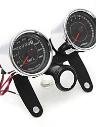 cheap -Iztoss Universal LED Motorcycle Tachometer+Odometer Speedometer Gauge