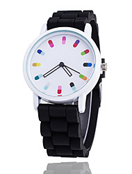 cheap -Women's Wrist Watch Quartz Silicone Black / White Casual Watch Cool Analog Ladies Casual Fashion - Blue Pink Light Blue One Year Battery Life / SSUO 377
