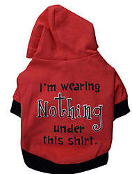 cheap -Hoodies for Dogs Red Winter Fashion XS / S / M / L Cotton