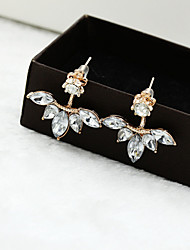 cheap -Women's Crystal Stud Earrings Flower Crystal Earrings Jewelry Silver / Golden For Wedding Party Daily Casual