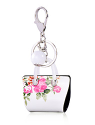 cheap -Penoy Print OL Style Acrylic Bag Shape Keychain Best Gift for Girlfriend Women Favorite