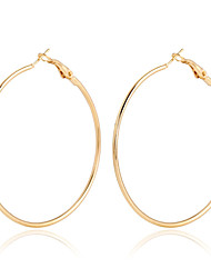 cheap -Women's Crystal Hoop Earrings Cheap Statement Ladies European Fashion Elegant 18K Gold Plated Gold Plated Earrings Jewelry Gold / Rose Gold For Party Daily Casual