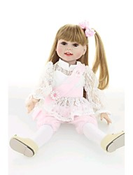 """cheap -NPK DOLL 18 inch Reborn Doll Baby Newborn lifelike Cute Hand Made Child Safe Silicone PVC(PolyVinyl Chloride) Vinyl 18"""" with Clothes and Accessories for Girls' Birthday and Festival Gifts / Non Toxic"""