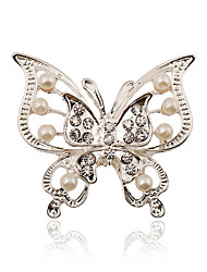 cheap -Women's Brooches Ladies Stylish Fashion Imitation Pearl Rhinestone Silver Plated Brooch Jewelry For Wedding Party Dailywear Daily Masquerade Engagement Party