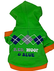 cheap -Hoodies for Dogs Green Winter Fashion XS / S / M / L Cotton