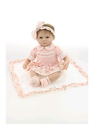cheap -NPKCOLLECTION NPK DOLL Reborn Doll Baby 18 inch Silicone Vinyl - Newborn lifelike Hand Made Child Safe Non Toxic Hand Applied Eyelashes Kid's Girls' Toy Gift / CE Certified / Natural Skin Tone