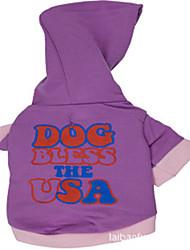 cheap -Hoodies for Dogs Purple Winter Fashion XS / S / M / L Cotton