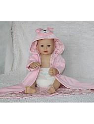 Недорогие -NPK DOLL Куклы реборн Дети Силикон Винил - Новорожденный как живой Милый стиль Ручная работа Безопасно для детей Non Toxic Детские Девочки Игрушки Подарок / CE / Естественный тон кожи