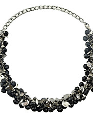 cheap -Women's Chain Necklace Ladies Alloy Black Gray Necklace Jewelry For Party Daily Casual