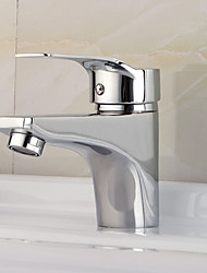 cheap -Bathroom Sink Faucet - Standard Chrome Deck Mounted Single Handle One HoleBath Taps