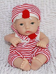 cheap -NPK DOLL Reborn Doll Baby Full Body Silicone / Silicone / Vinyl - lifelike, Hand Applied Eyelashes, Tipped and Sealed Nails Girls' Kid's