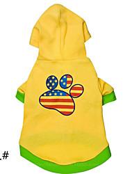 cheap -Dog Hoodie Yellow Dog Clothes Winter Fashion