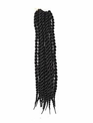 """cheap -Braiding Hair Curly Box Braids Twist Braids Synthetic Hair 100% kanekalon hair Kanekalon 18 Roots Hair Braids Black 22 inch 21.3""""(Approx.54cm) Party Daily Wear Other"""