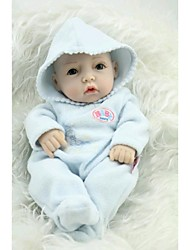 cheap -NPKCOLLECTION NPK DOLL Reborn Doll Baby Full Body Silicone Silicone Vinyl - Newborn lifelike Cute Hand Made Child Safe Non Toxic Kid's Girls' Toy Gift / Lovely / CE Certified / Natural Skin Tone