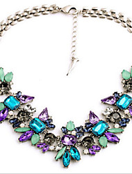 cheap -Women's Statement Necklace Ladies Fashion Colorful Festival / Holiday Gemstone Alloy Blue Necklace Jewelry For Party Special Occasion Birthday Gift Daily