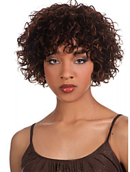 cheap -ms african brown wig fashion style high temperature wire short curly hair wig