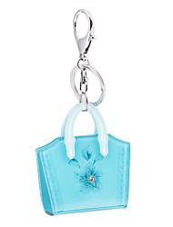 cheap -2016 Candy Color Flowers Bag Fashion Acrylic Luxury Car Key Chain Women Keyring Bag Pendant Jordan Keychain