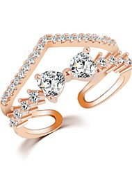 cheap -Hot Sale 2016 Fashion Crystal Jewelry Adjustable Ring New Gold Sliver Planted Bow Rings For Women
