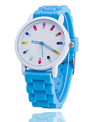 cheap -Women's Casual Watch Fashion Watch Quartz Silicone Blue / Orange / Green Analog Ladies - Green Pink Light Blue