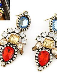 cheap -Women's Cubic Zirconia Drop Earrings Luxury Gemstone Cubic Zirconia Imitation Diamond Earrings Jewelry Red For
