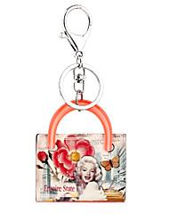Недорогие -женский брелок характер Marilyn Monroe акриловые брелка женщин сумка очарование аксессуары одежды автомобиль украшения