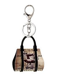 cheap -2016 Acrylic Key Chain Cartoon Scenery Painting Jewelry Handbag Car Keychain Women Holder Key Ring Gift
