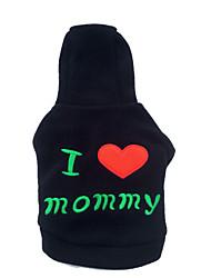 cheap -Hoodies for Dogs Black Winter Fashion XS / S / M / L Cotton