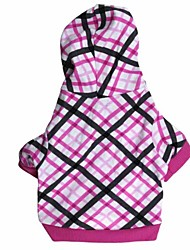 cheap -Dog Hoodie Dog Clothes Breathable Fashion Fuchsia/Black Costume For Pets