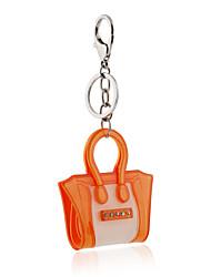 Недорогие -2016 акриловый кристалл держатель ключевой цепи оранжевый ювелирных изделий сумки брелок автомобиля женщины кольцо для ключей подарки