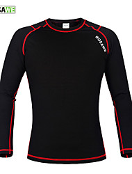 cheap -WOSAWE Men's Women's Long Sleeve Black / Red Bike Base layer Jersey Compression Clothing Mountain Bike MTB Road Bike Cycling Thermal / Warm Sports Winter Polyester 100% Polyester Fleece Clothing