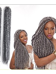 cheap -Braiding Hair Curly Box Braids Twist Braids Synthetic Hair 100% kanekalon hair Kanekalon 12 roots / pack Hair Braids 24 inch 24.4inch(Approx.62cm) Party Wedding Party Daily Wear Other