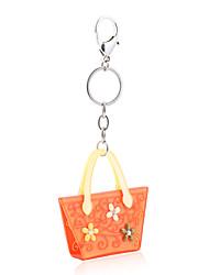 Недорогие -2015 новых ключевых моды цепи женщины акриловые оранжевый серый горный хрусталь дамы Keyrings