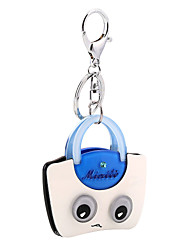 cheap -Cartoon Eco-mark Pattern Acrylic Bag Shape Keychain Best Gift for Girlfriend Women Favorite