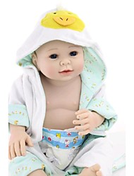 cheap -NPK DOLL Reborn Doll Baby Newborn lifelike Cute Hand Made Child Safe Silicone Vinyl with Clothes and Accessories for Girls' Birthday and Festival Gifts / Non Toxic / Lovely / CE Certified / Kid's