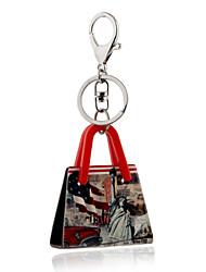 Недорогие -2016 г. ключевые цепи американская сцена статуя держателя свобода ювелирные сумки брелок автомобиля женщины кольцо для ключей оптом