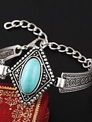 cheap -European Style Elegant Vintage Turquoise Square Charm Bracelet