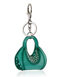 Недорогие -2016 г. зеленый кристалл акриловые ключевые цепи прекрасные ювелирные изделия сумки брелок автомобиля женщины брелок кольцо оптом