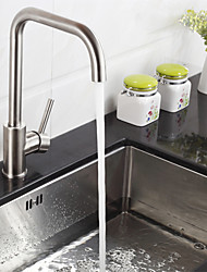 cheap -Kitchen faucet - Single Handle One Hole Stainless Steel Standard Spout Deck Mounted Contemporary Kitchen Taps
