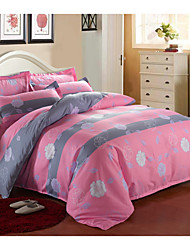 cheap -Yuxin®Aloe Cotton Fabrics 4 Piece Bed Linings Active Printing Single or Double Quilt  Bedding Set