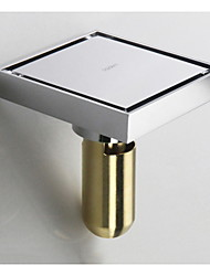 cheap -Contemporary Brass Chrome Finish Square Floor Drain