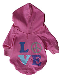 cheap -Hoodies for Dogs Pink Winter Fashion XS / S / M / L Cotton