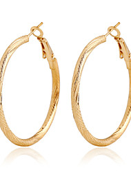 cheap -Women's Hoop Earrings Gold Plated Earrings Jewelry Screen Color For