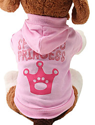 cheap -Cat Dog Hoodie Winter Dog Clothes Breathable Pink Costume Bulldog Pug Chihuahua Cotton Tiaras & Crowns Fashion XS S M L